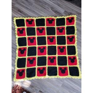 Custom Mickey Mouse Crochet Blanket
